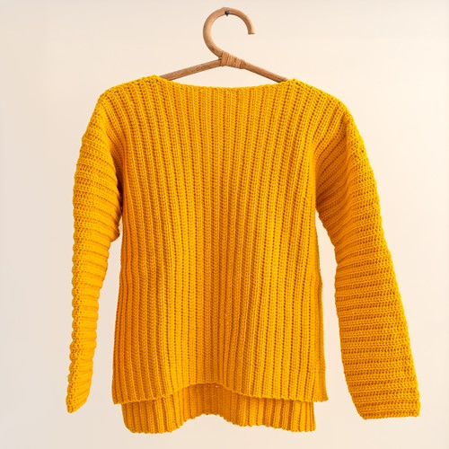 Yarn and Colors Brunch Time Sweater Häkelpaket 1 Mustard XS