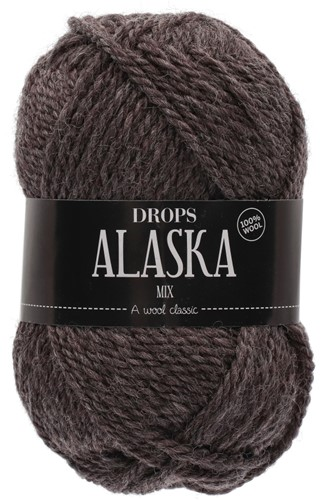 Drops Alaska Mix 50 Dunkelbraun-meliert