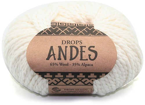 Drops Andes Uni Colour 1101 Weiss
