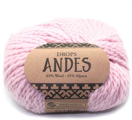 Drops Andes Uni Colour 3145 Puderrosa