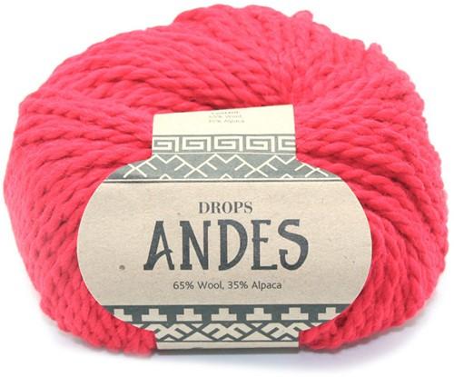 Drops Andes Uni Colour 3620 Hochrot