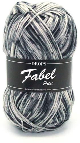 Drops Fabel Print 905 Salt and Pepper