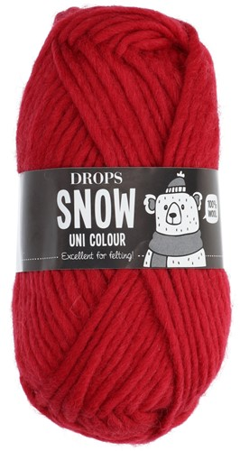 Drops Snow (Eskimo) Uni Colour 08 Crimson red