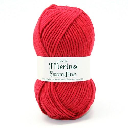 Drops Merino Extra Fine Uni Colour 11 Rot