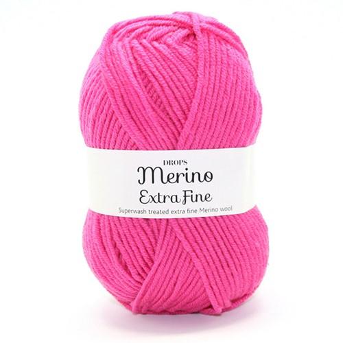 Drops Merino Extra Fine Uni Colour 17 Pink