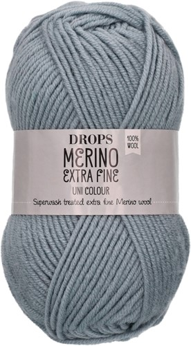 Drops Merino Extra Fine Uni Colour 38 Blauer Nebel