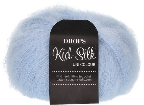 Drops Kid-Silk Uni Colour 07 Light-steel-blue
