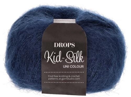 Drops Kid-Silk Uni Colour 28 Navy Blue