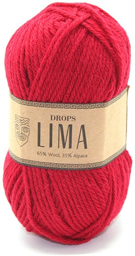 Drops Lima Uni Colour 3609 Rot