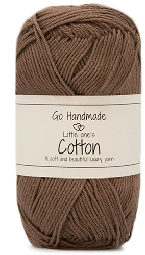 Go Handmade Little Ones Cotton 42 Caramel Brown