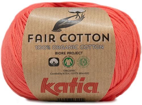 Katia Fair Cotton 44 Salmon-Orange