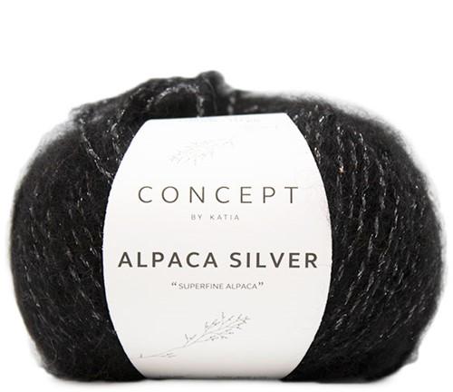 Katia Alpaca Silver 263 Silver Black
