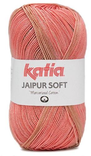 Katia Jaipur Soft 104 Aqua Blue / Stone Grey / Red