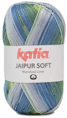 Katia Jaipur Soft 106 Blue / Green / Yellow
