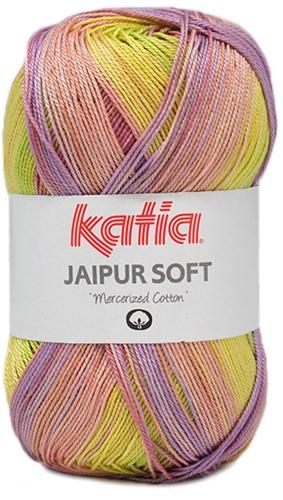 Katia Jaipur Soft 107 Red / Medium Purple / Yellow