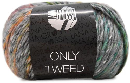 Lana Grossa Only Tweed 109 Grey Mix / Yellow / Green / Orange / Turquoise / Raspberry