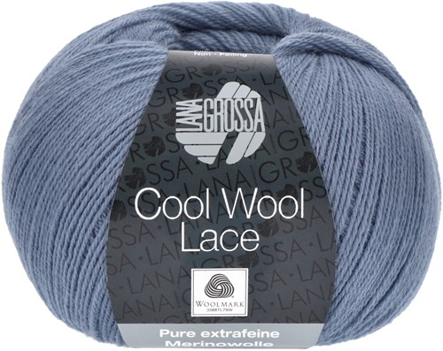 Lana Grossa Cool Wool Lace 002 Dove Blue