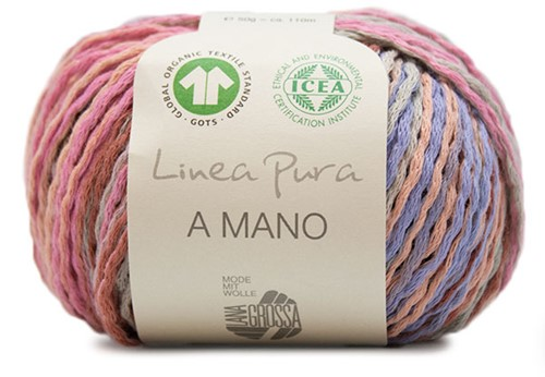 Lana Grossa A Mano 001 Taupe / Lilac / Copper / Red Brown