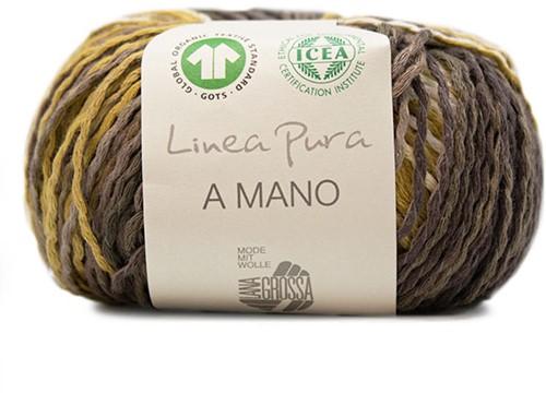 Lana Grossa A Mano 009 Nature / Beige / Dark Brown / Orange / Coral