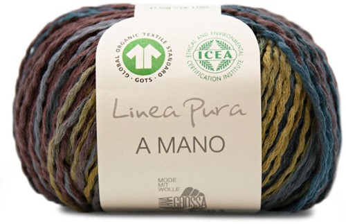 Lana Grossa A Mano 011 Khaki / Grey / Green / Petrol / Dark Brown / Mustard