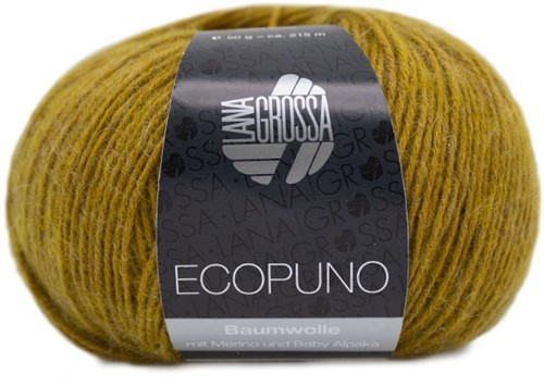 Ecopuno Ajour Schal Strickpaket 1 Curry yellow