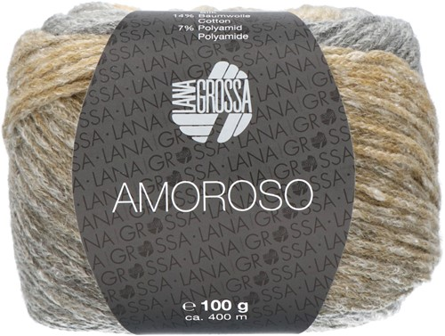 Lana Grossa Amoroso 001 Grège / green beige / light gray / sand yellow