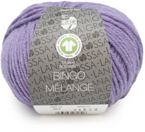 Lana Grossa Bingo Mélange (GOTS) 301 Lilac mottled