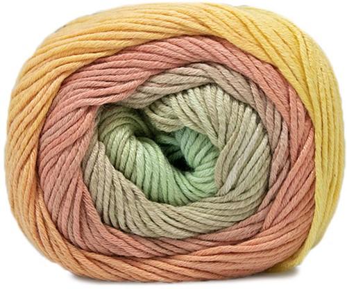 Lana Grossa Gomitolo Aloha 305 Yellow - Orange / Salmon / Blue-Green / Sand / Light Brown