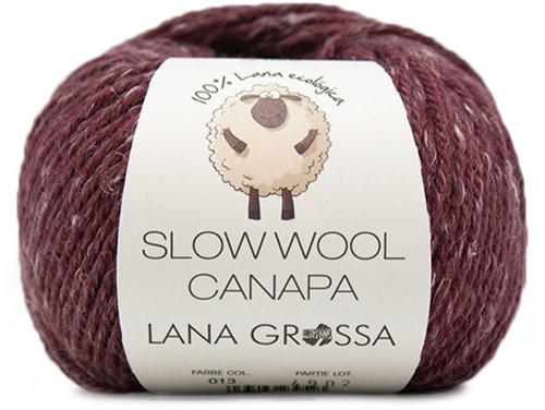 Lana Grossa Slow Wool Canapa 013 Burgundian