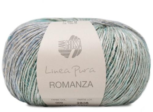 Lana Grossa Romanza 009 Mint / Turquoise / Petrol / Petrol-Grey / Violett-Grey / Pastel Blue