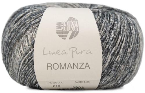 Lana Grossa Romanza 010 Linen / Blue-Grey / Medium and Dark Grey / Anthracite