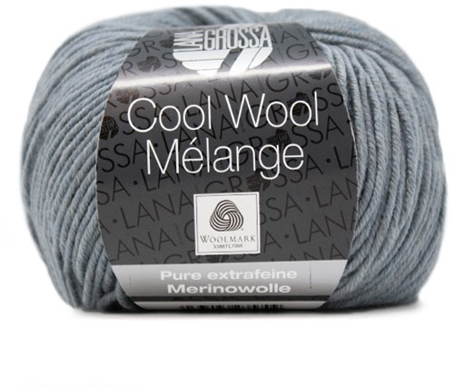 Lana Grossa Cool Wool Melange 154 Gray Blue Mottled