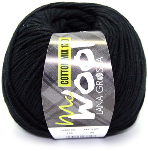 Lana Grossa Cotton Mix 130 118 Black