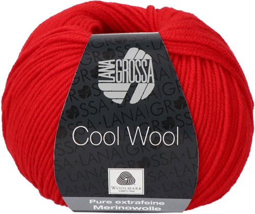 Lana Grossa Cool Wool 417 Luminous Red