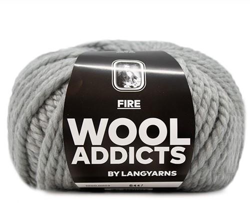 Lang Yarns Wooladdicts Fire 003 Light Grey Mélange