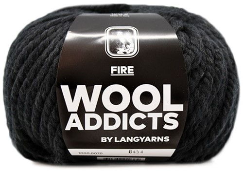 Lang Yarns Wooladdicts Fire 070 Anthracite