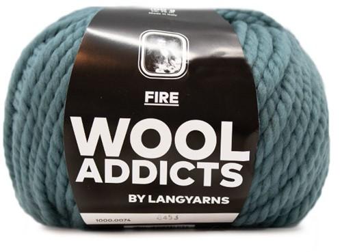 Lang Yarns Wooladdicts Fire 074 Atlantic