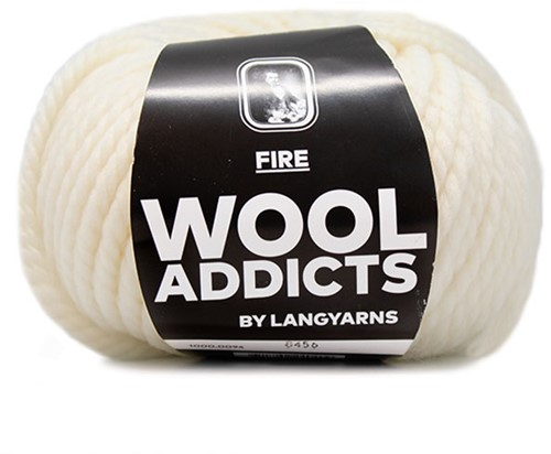 Lang Yarns Wooladdicts Fire 094 Offwhite