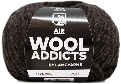 Lang Yarns Wooladdicts Air 067 Dark Brown