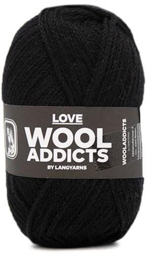Lang Yarns Wooladdicts Love 004 Black