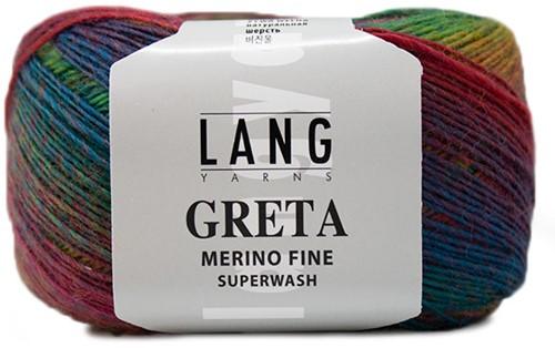 Lang Yarns Greta 053 Green / Turquoise / Red / Yellow