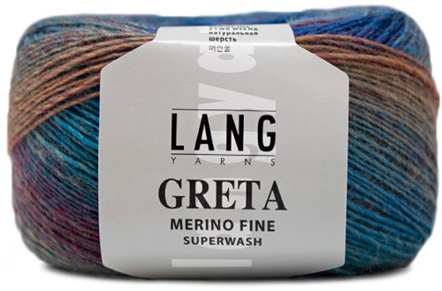 Lang Yarns Greta 155 Blue / Berry / Green