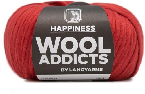 Lang Yarns Wooladdicts Happiness 063 Dark Red