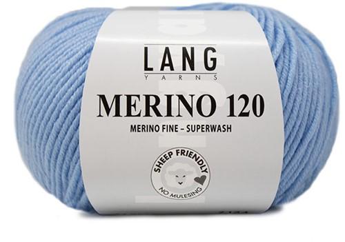 Lang Yarns Merino 120 020 Light Blue