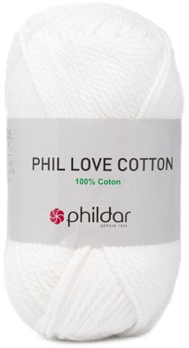 Phildar Phil Love Cotton 1225 Blanc
