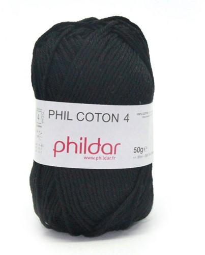 Phildar Phil Coton 4 1200 Noir