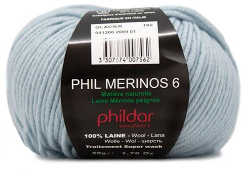 Phildar Phil Merinos 6 2089 Glacier