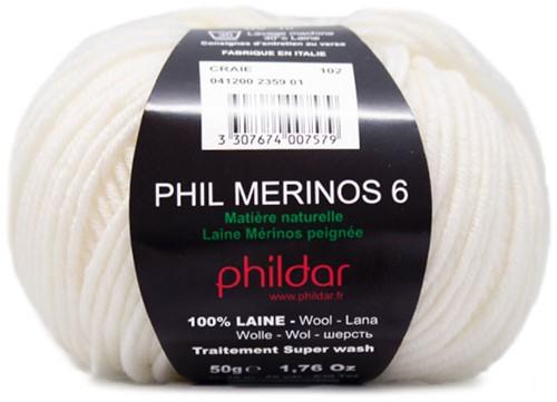 Phildar Phil Merinos 6 2359 Craie