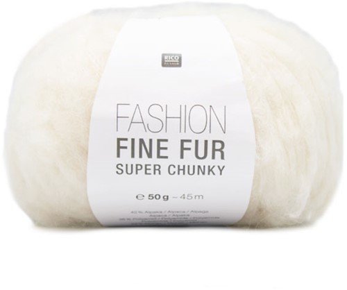 Rico Fashion Fine Fur Super Chunky 1 Creme