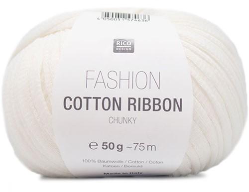 Rico Fashion Cotton Ribbon Chunky 01 Weiß